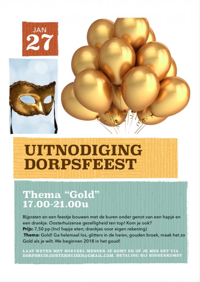 Dorpsfeest 2018: GOLD!
