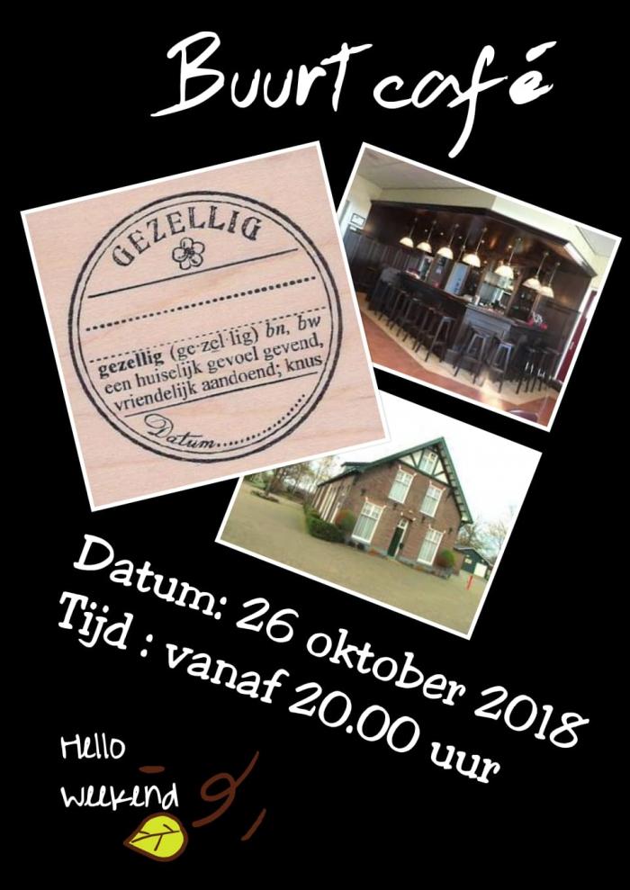 Buurtcafé 26 oktober