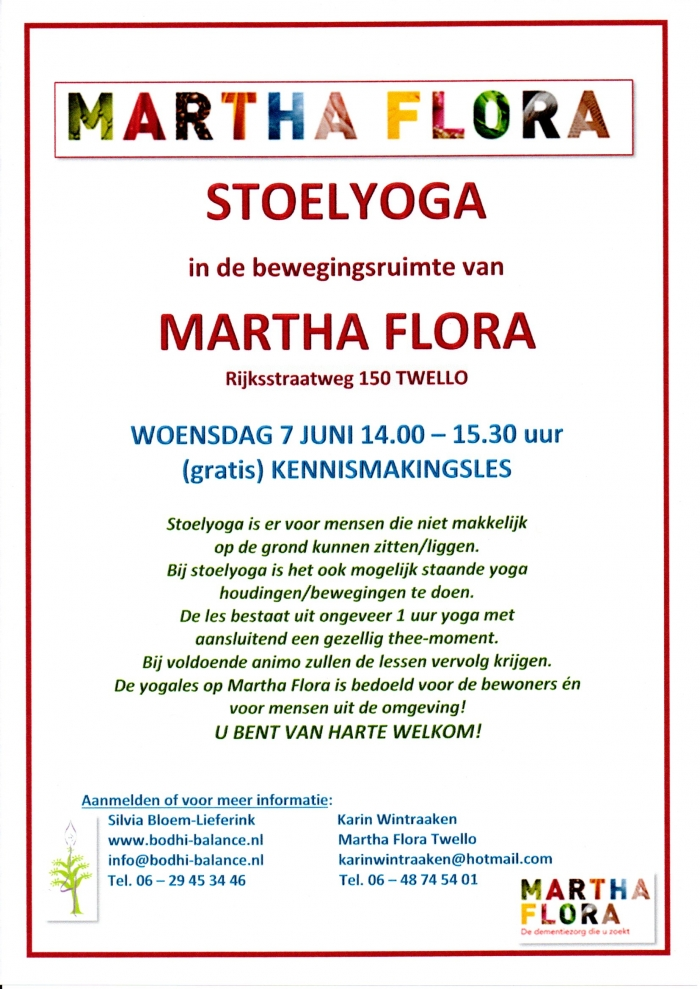 STOELYOGA MARTHA FLORA - 7 juni 2017